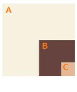 色と色の組み合わせ面積比を意識する