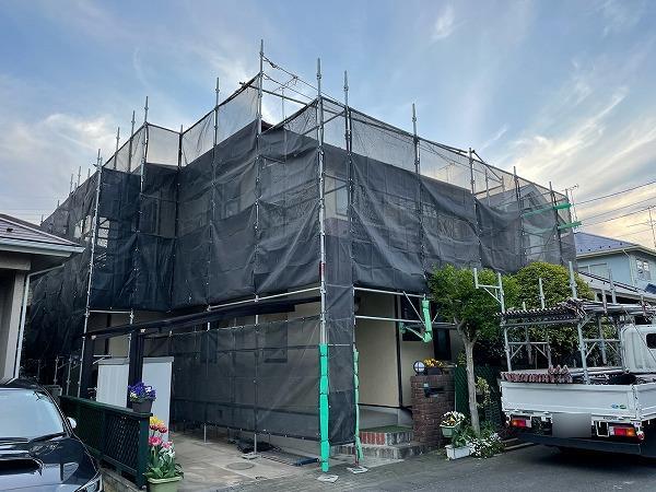 外壁・屋根塗装の足場